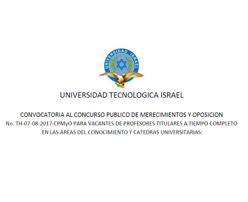 Convocatoria al concurso p blico de merecimientos y for Convocatorias para profesores 2016