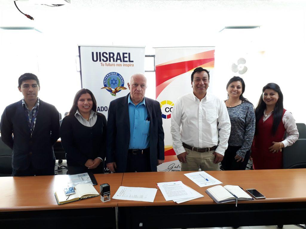 Convenio CONAGOPARE - UISRAEL