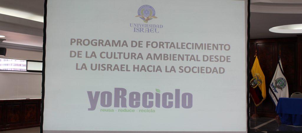 Programa de Cultura Ambiental UISRAEL - Yo Reciclo